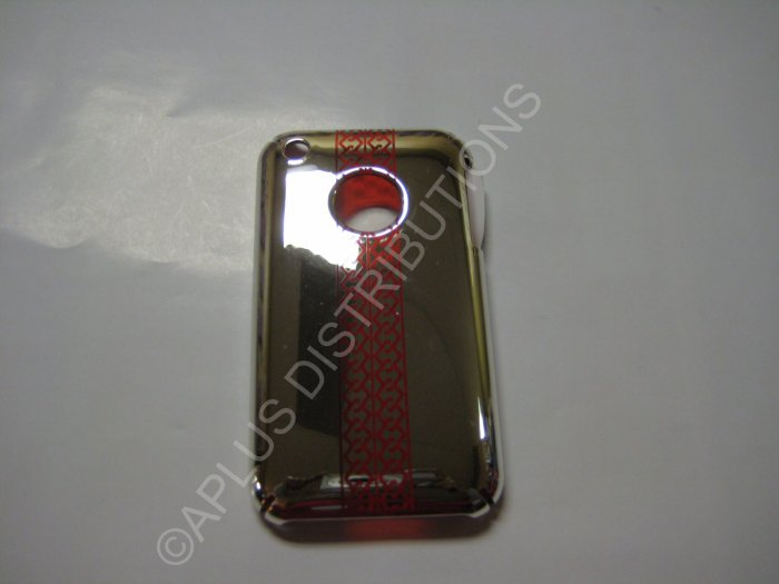 New Chrome Tire Tracks Design Hard Protective Cover For iPhone 3G 3GS - (0067)