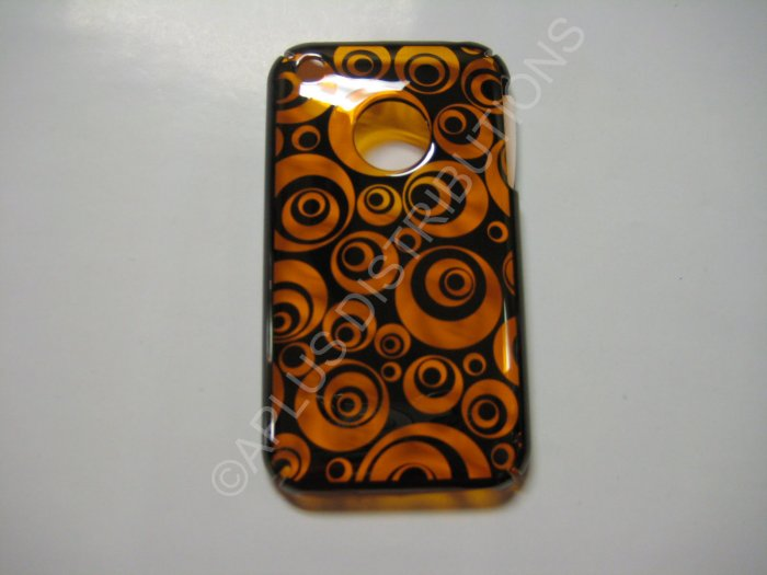 New Chrome Multi-Circles Design Hard Protective Cover For iPhone 3G 3GS - (0074)