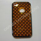 New Chrome Circle Diamonds Design Hard Protective Cover For iPhone 3G 3GS - (0063)
