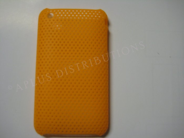 New Orange Lattice Pattern Design Hard Protective Cover For iPhone 3G 3GS - (0016)