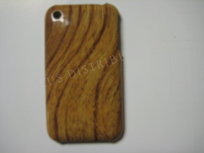 New Light Brown Wood Grain Design Hard Protective Cover For iPhone 3G 3GS - (0011)