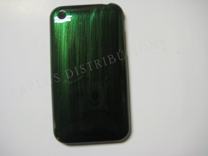 New Green Metallic Paint Pattern Hard Protective Cover For iPhone 3G 3GS - (0005)