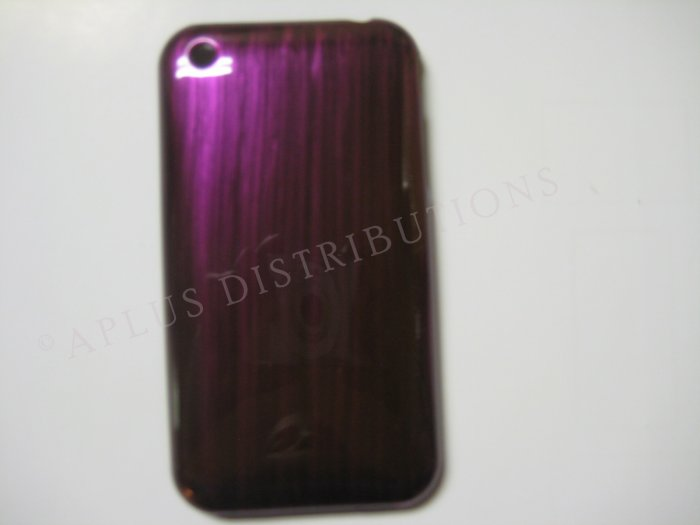 New Purple Metallic Paint Pattern Hard Protective Cover For iPhone 3G 3GS - (0009)
