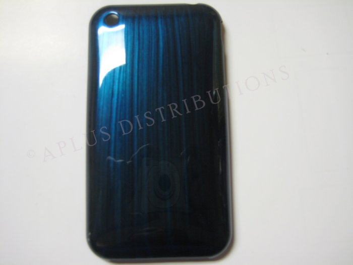 New Turquoise Metallic Paint Pattern Hard Protective Cover For iPhone 3G 3GS - (0007)