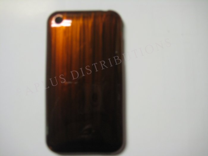 New Brown Metallic Paint Pattern Hard Protective Cover For iPhone 3G 3GS - (0006)