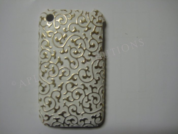 New Gold Princess Swirl Design Hard Protective Cover For iPhone 3G 3GS - (0024)