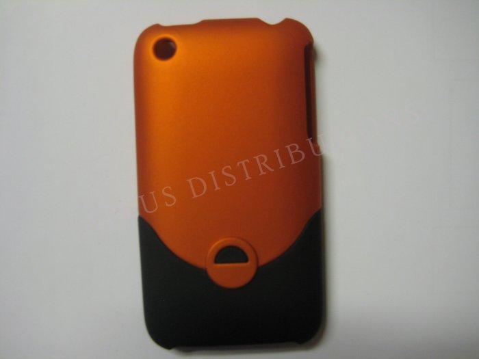 New Burt Orange Rubberized Slider Design Hard Protective Cover For iPhone 3G 3GS - (0098)