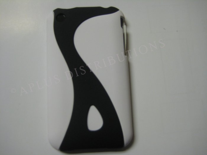 New White Rubberized Twist Design Hard Protective Cover For iPhone 3G 3GS - (0099)