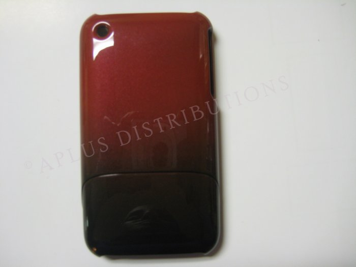 New Red Metallic Slider Design Hard Protective Cover For iPhone 3G 3GS - (0106)