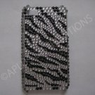 New Black Zebra   Design Crystal Bling Diamond Case For iPhone 4 - (0020)