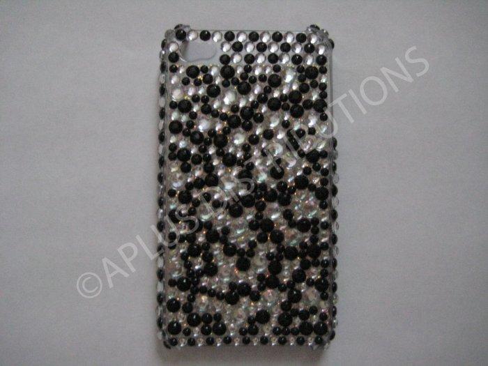 New Black Multi-Diamonds Design Crystal Bling Diamond Case For iPhone 4 - (0013)
