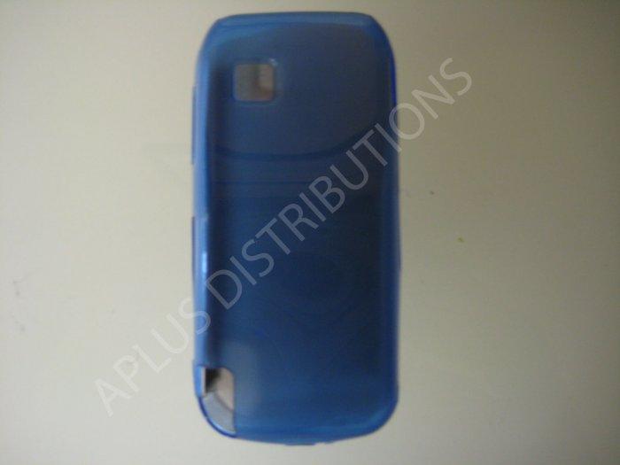 New Blue Transparent Microsquares TPU Cover For Nokia Nuron 5230 - (0008)
