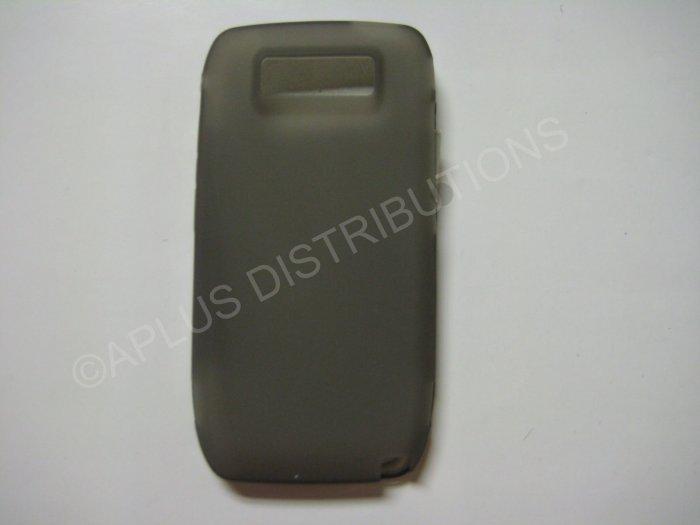 New Gray Solid Color TPU Cover For Nokia E71 - (0023)