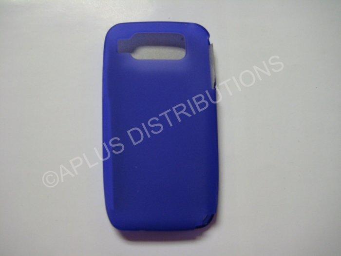New Purple Solid Color TPU Cover For Nokia E72 - (0025)