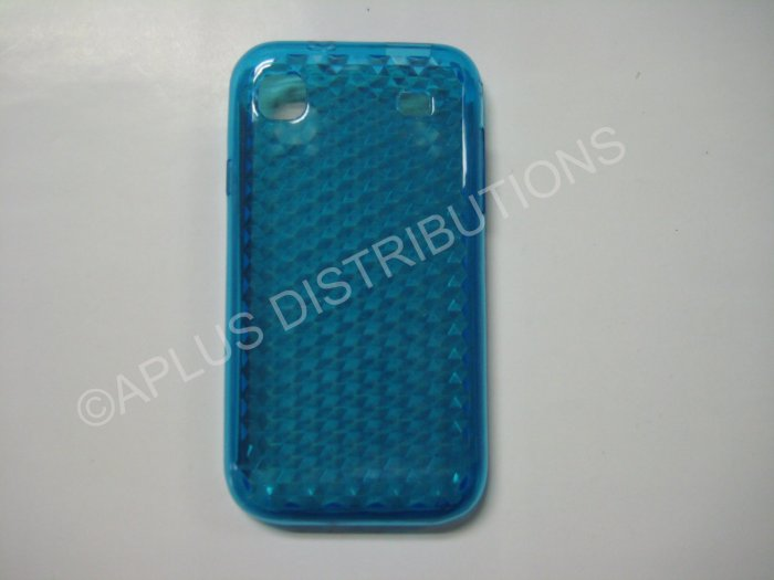 New Blue Diamond Cut Pattern TPU Cover For Samsung Galaxy S I9000 - (0013)