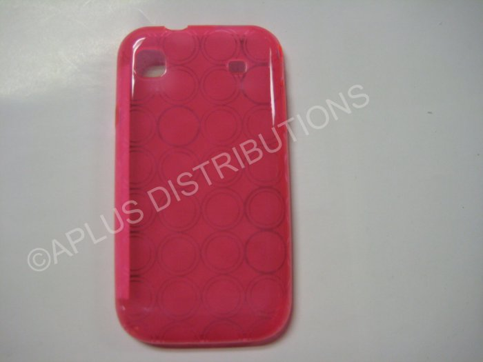 New Hot Pink Transparent Multi-Circles TPU Cover For Samsung Galaxy S I9000 - (0003)