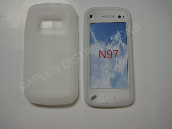 New Clear Nokia N97 Silicone Skin Case For Nokia N97 - (0007)