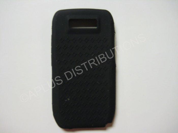 New Black Diamond Print Silicone Skin Case For Nokia E71 - (0001)
