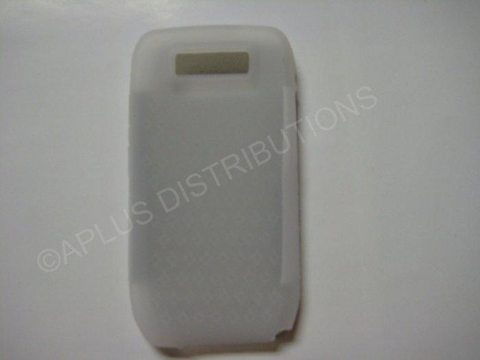 New Clear Diamond Print Silicone Skin Case For Nokia E71 - (0002)