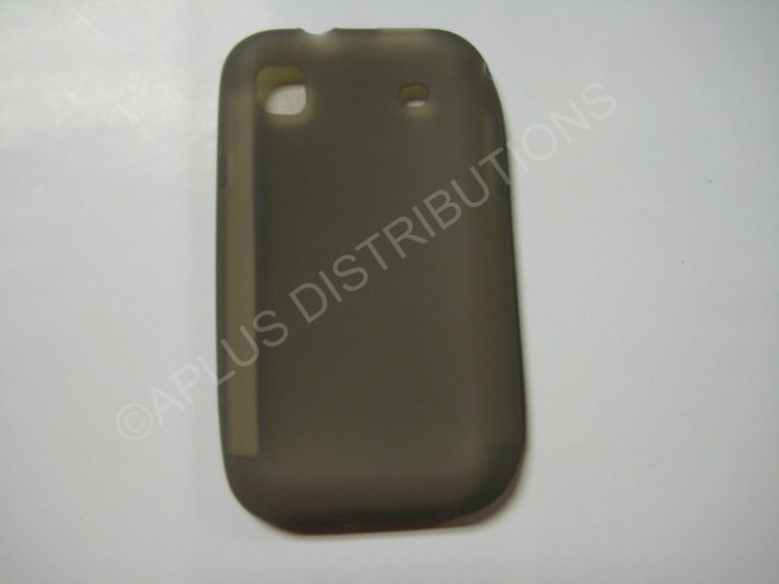 New Smoke Solid Color Silicone Skin Case For Samsung Galaxy S I9000 - (0012)