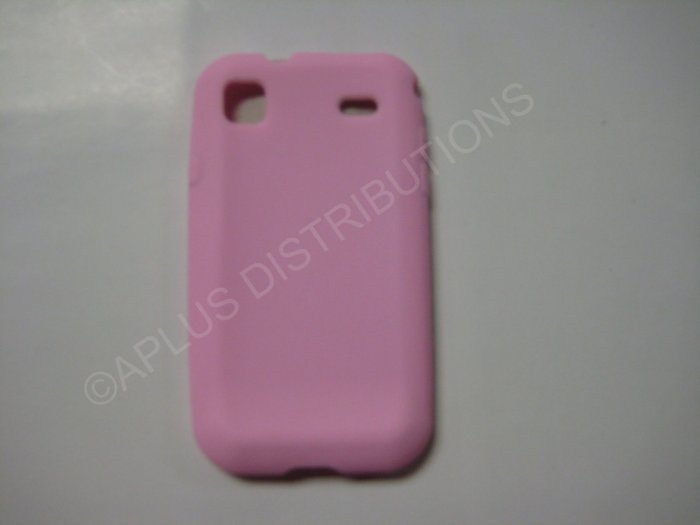 New Pink Solid Color Silicone Skin Case For Samsung Galaxy S I9000 - (0018)