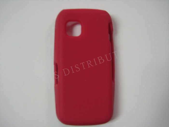 New Red Solid Color Silicone Skin Case For Nokia Nuron 5230 - (0008)