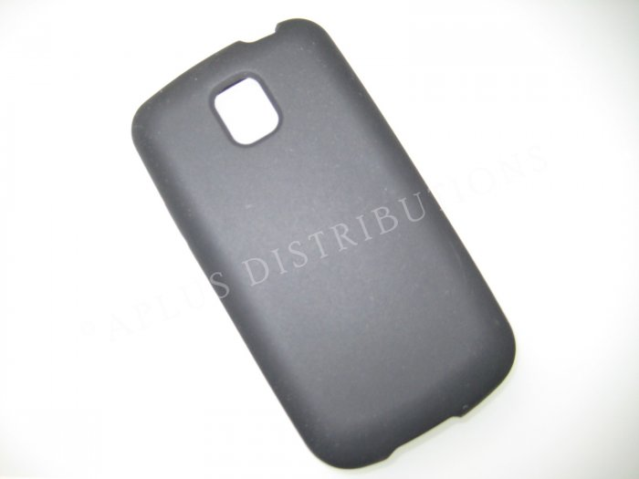 New Black Solid Color Silicone Skin Case For LG Optimus T P509 - (0006)