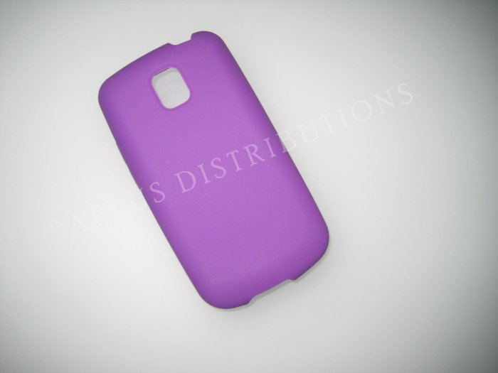 New Purple Solid Color Silicone Skin Case For LG Optimus T P509 - (0016)