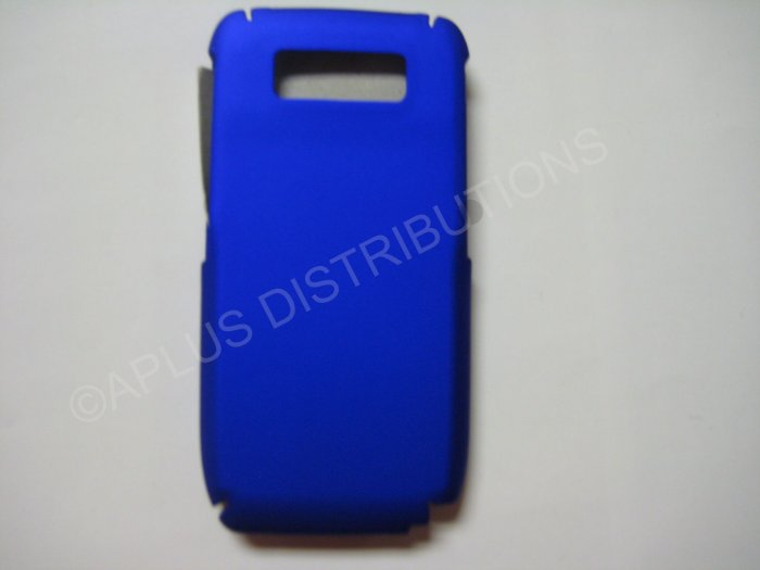 New Blue Rubberized Hard Protective Cover For Nokia E71 - (0053)