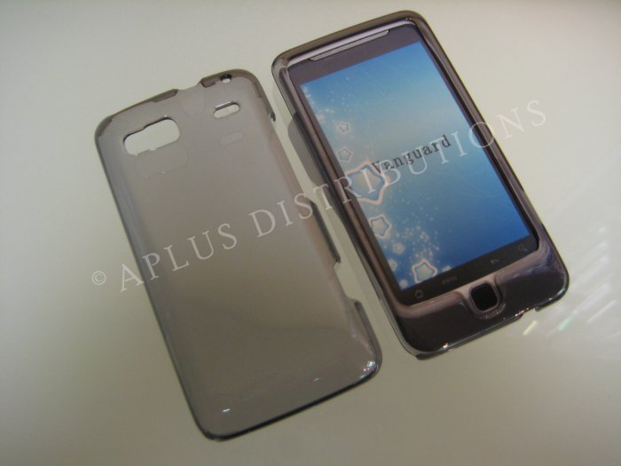 NEW TRANSPARENT SOLID HARD COVER For HTC G2- SMOKE