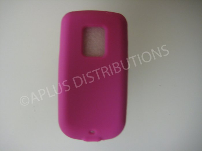 New Hot Pink Solid Color Silicone Skin Case For HTC Hero Cdma - (0009)