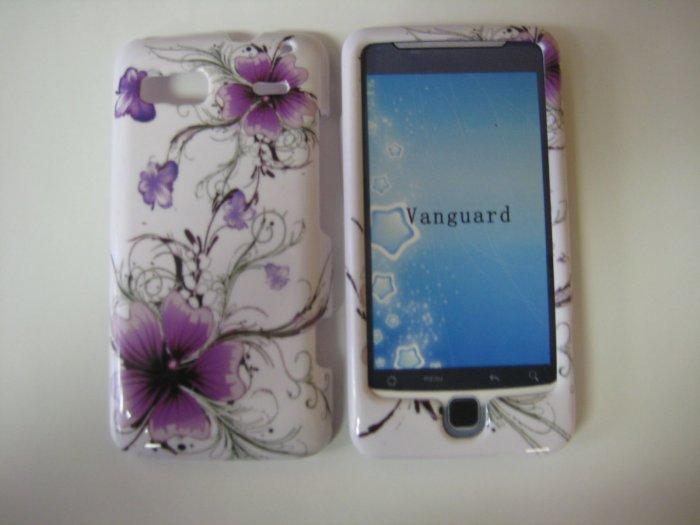 New Purple Hibuscus Swirls Hard Protective Cover For HTC G2 4G - Vanguard - (0009)
