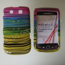 New Yellow/Pink Horizontal Strips Design Hard Protective Cover For Blackberry 9800 - (0154)