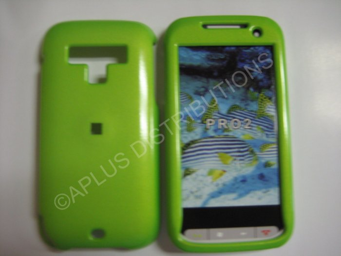 New Lime Green Solid Color Hard Protective Cover For HTC Touch Pro 2 (CDMA) - (0065)