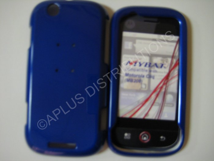 New Blue Solid Color Hard Protective Cover For Motorola Cliq MB200 - (0067)