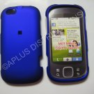New Blue Rubberized Hard Protective Cover For Motorola Cliq XT MB501 - (0053)