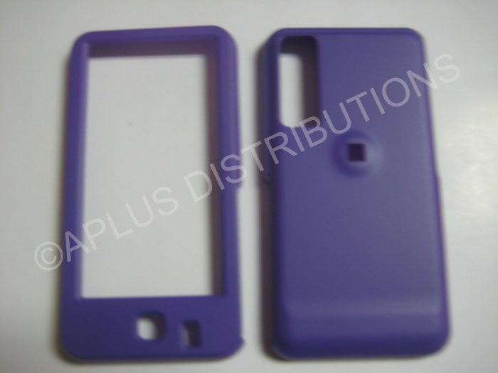 New Purple Rubberized Hard Protective Cover For Samsung Behold T919 - (0057)