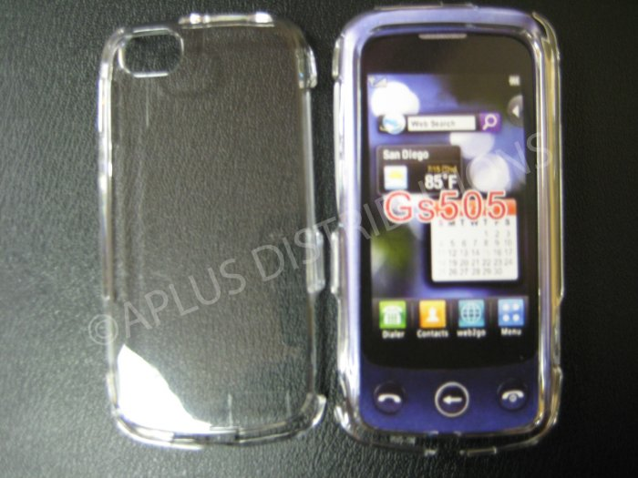 New Clear Transparent Hard Protective Cover For LG Sentio GS505 - (0059)