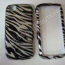 New Black Metallic Zebra Design Hard Protective Cover For LG Sentio GS505 - (0003)