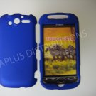 New Blue Rubberized Hard Protective Cover For HTC My Touch 4G - (0053)