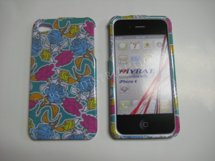 New Red Roses Design Hard Protective Cover For iPhone 4 - (0131)