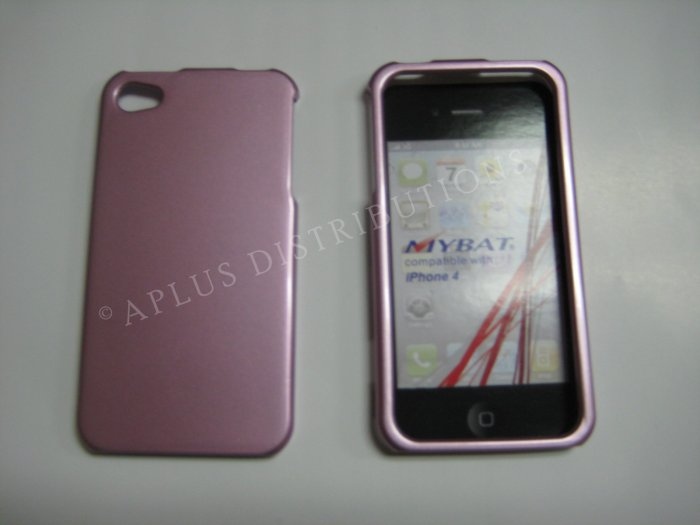 New Light Pink Solid Color Design Hard Protective Cover For iPhone 4 - (0132)