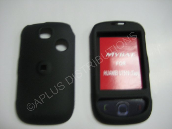 New Black Rubberized Design Hard Protective Cover For T-Mobile Tap - (0051)