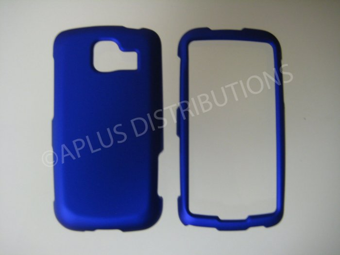 New Blue Rubberized Hard Protective Cover For LG Optimus S LS670 - (0053)