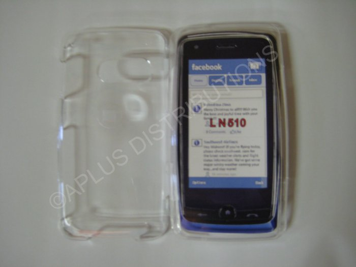 New Clear Transparent Design Hard Protective Cover For LG Rumor Touch LN510 - (0059)