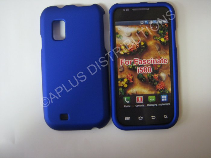 New Blue Rubberized Hard Protective Cover For Samsung Fascinate I500 - (0053)