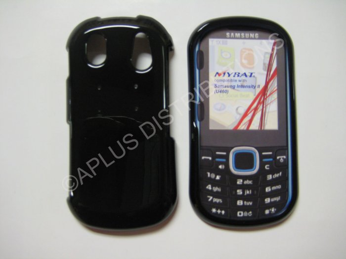 New Black Solid Color Hard Protective Cover For Samsung Intensity Ii U460 - (0062)