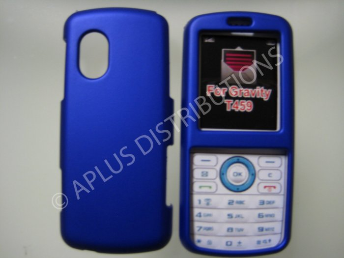 New Blue Rubberized Hard Protective Cover For Samsung Gravity T459 - (0053)