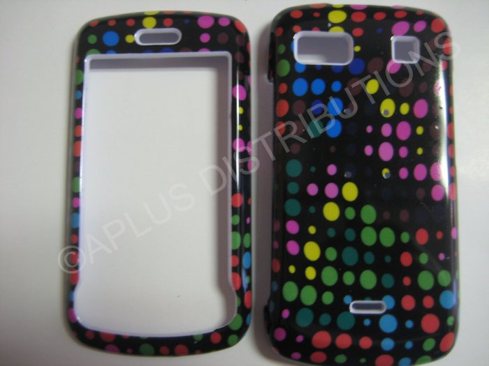 New Multi-Color Dots Design Hard Protective Cover For LG Xenon GR500 - (0007)