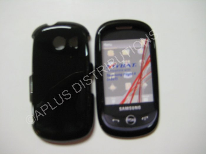 New Black Solid Color Hard Protective Cover For Samsung Flight Ii A927 - (0062)